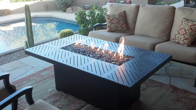 Custom Propane Fire Pit Tables Arizona Backyard Custom - Outdoor furniture with gas fire pit table