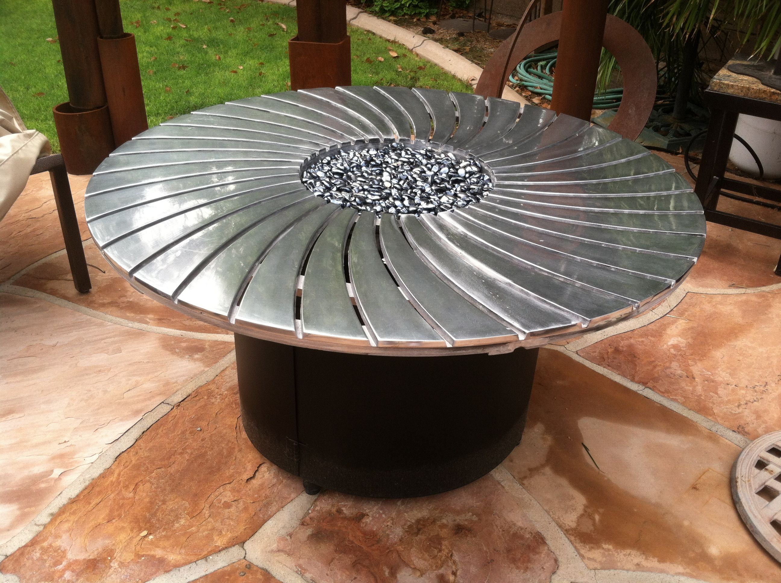 Custom fire pit tables arizona backyard custom